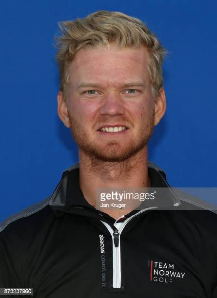 Jarand Ekeland Arnoy of Norway during the second round of the European Tour Qualifying School Final Stage at Lumine Golf Club on November 12 2017 in...