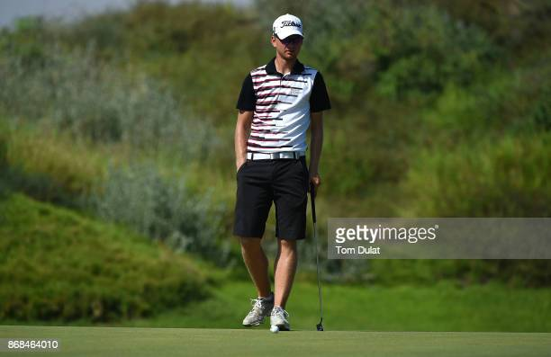 Jarand Ekeland Arnoy of Norway looks on prior to the NBO Golf Classic Grand Final European Challenge Tour at Al Mouj Golf on October 31 2017 in...