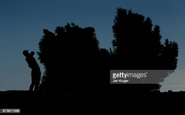 Jarand Ekeland Arnoy of Norway tees off during round three of the European Tour Qualifying School Final Stage at Lumine Golf Club on November 13 2017...