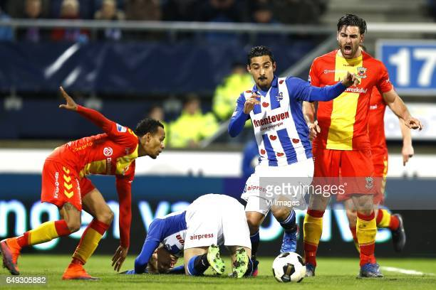 Jarchinio Antonia of Go Ahead Eagles Martin Odegaard of Heerenveen Reza Goochannejhad of Heerenveen Sander fischer of Go Ahead Eaglesduring the Dutch...