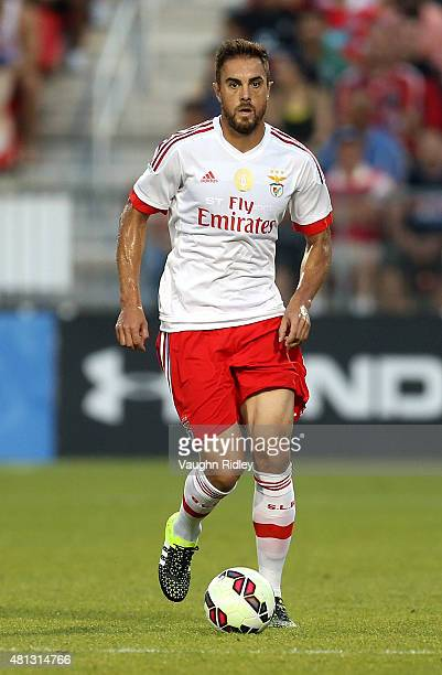 Jardel of Benfica in action during the 2015 International Champions Cup match against Paris SaintGermain at BMO Field on July 18 2015 in Toronto...