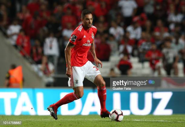 Jardel of SL Benfica in action during the Liga NOS match between SL Benfica and Vitoria SC at Estadio da Luz on August 10 2018 in Lisbon Portugal