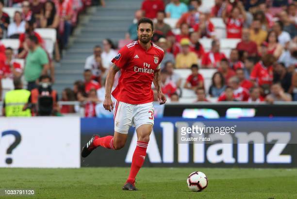 Jardel of SL Benfica in action during the Portuguese League Cup match between SL Benfica and Rio Ave FC at Estadio da Luz on September 15 2018 in...