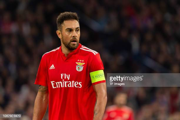 Jardel of SL Benfica looks on during the UEFA Champions League Group E match between Ajax and SL Benfica at Johan Cruyff Arena on October 23 2018 in...