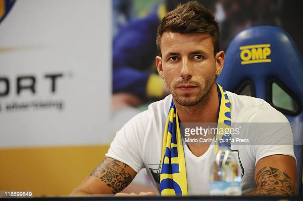 Jardim Goncalo Brandao new player of Parma FC attends a press conference to unveil Parma Fc new payers at Stadio Ennio Tardini on July 9 2011 in...