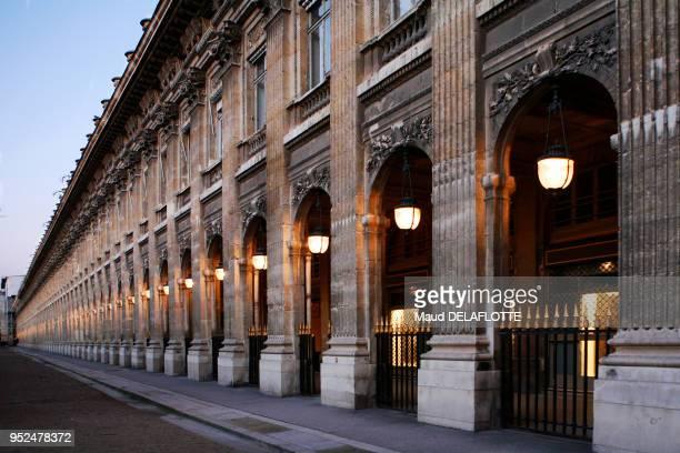 Jardin et arcades du Palais Royal 11 décembre 2008 Paris France