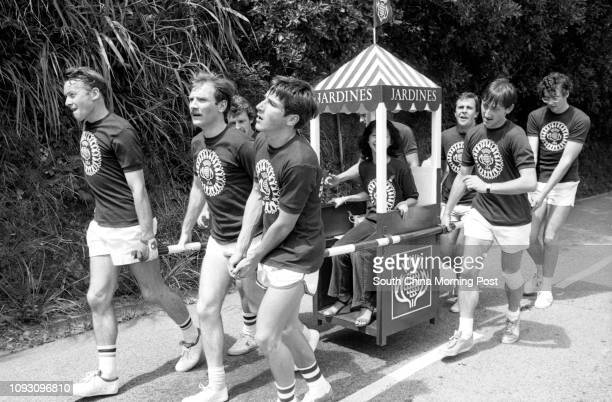 Jardine Matheson takes part in the annual Sedan Chair Race to raise funds for the Matilda Hospital 14OCT78