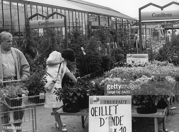 Jardinerie Truffaut Pendant Les Courses Du Printemps En 1988