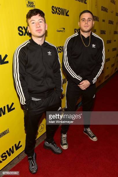 Jared Abrahmson and Barry Keoghan attend the 'American Animals' Premiere 2018 SXSW Conference and Festivals on March 9 2018 in Austin Texas