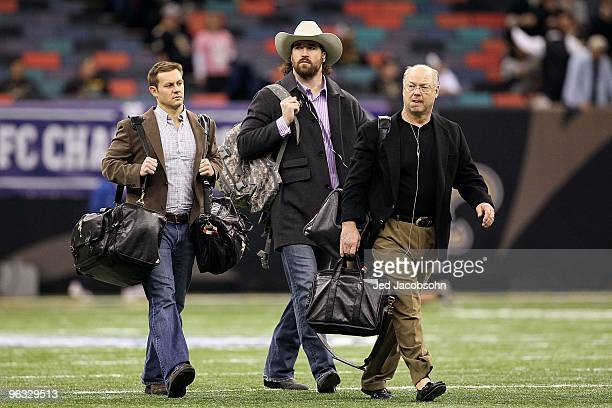Jared Allen of the Minnesota Vikings arrives at the dome to play against the New Orleans Saints during the NFC Championship Game at the Louisiana...