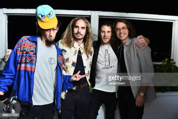 Jared Aufrichtig Mad Steeze Gregory Siff and Spencer Mar Guilbert attend 4AM Presents Crash This A Private Exhibition Of New Paintings By Gregory...