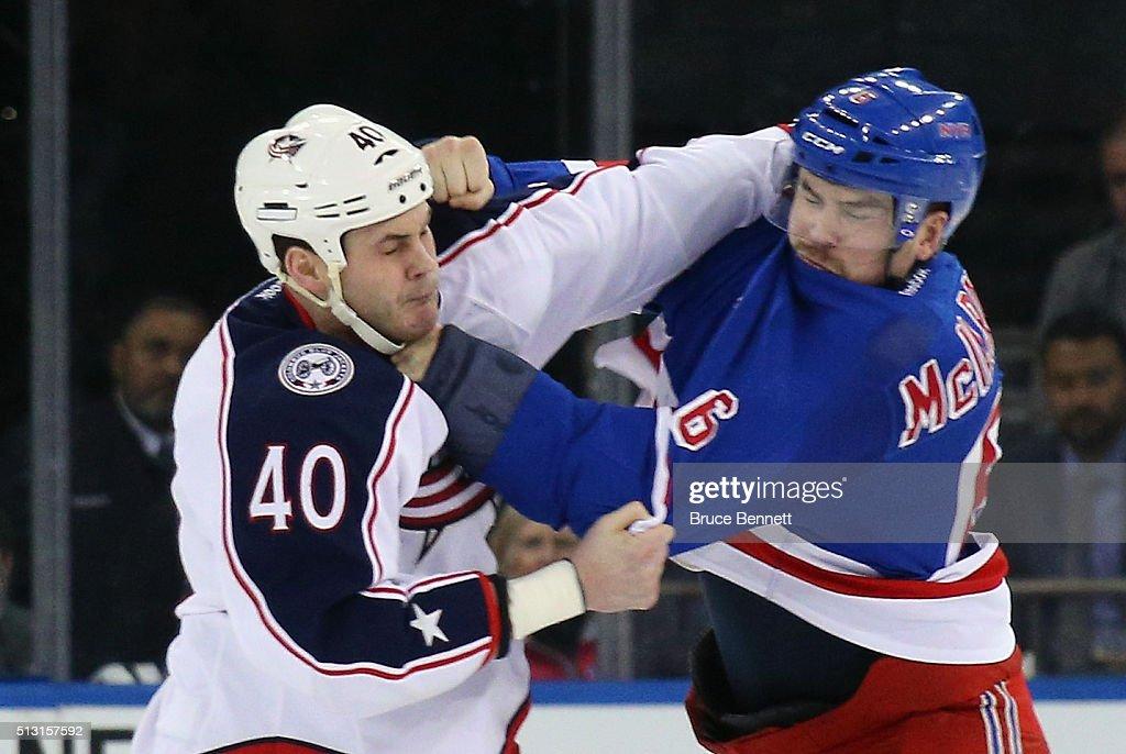 Columbus Blue Jackets v New York Rangers : News Photo