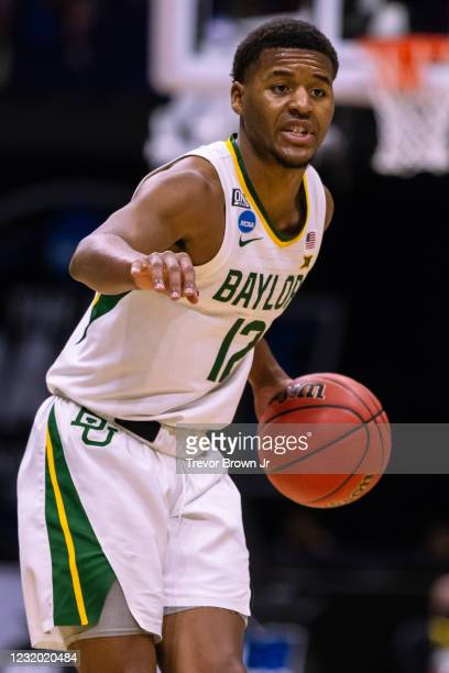 Jared Butler of the Baylor Bears during the Bears game against the Arkansas Razorbacks in the Elite Eight round of the 2021 NCAA Division I Mens...
