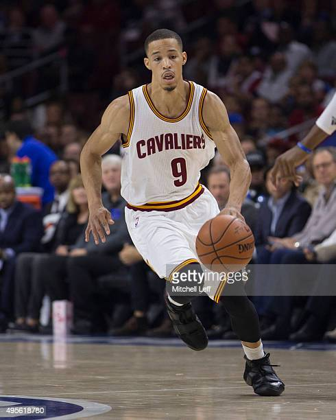 Jared Cunningham of the Cleveland Cavaliers controls the ball in the game against the Philadelphia 76ers on November 2 2015 at the Wells Fargo Center...