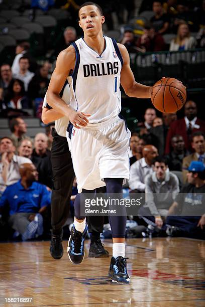 Jared Cunningham of the Dallas Mavericks dribbles the ball upcourt against the Sacramento Kings on December 10 2012 at the American Airlines Center...