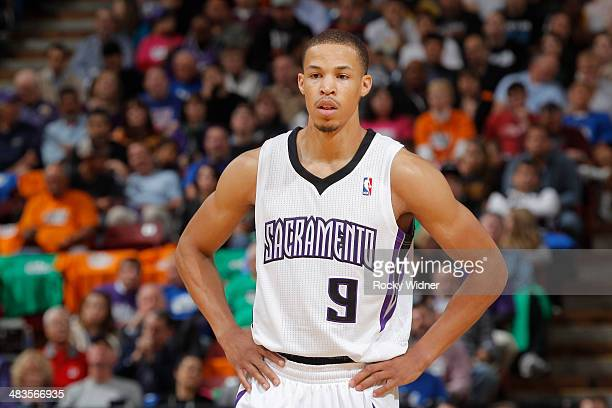 Jared Cunningham of the Sacramento Kings in a game against the Los Angeles Lakers on April 2 2014 at Sleep Train Arena in Sacramento California NOTE...