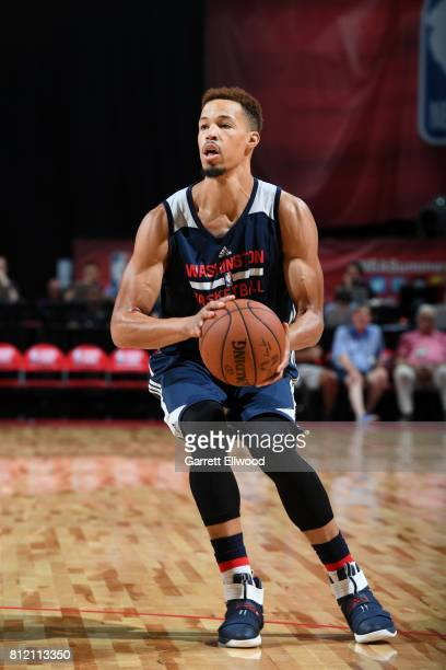 Jared Cunningham of the Washington Wizards looks to shoot the ball against the Miami Heat on July 10 2017 at the Thomas Mack Center in Las Vegas...