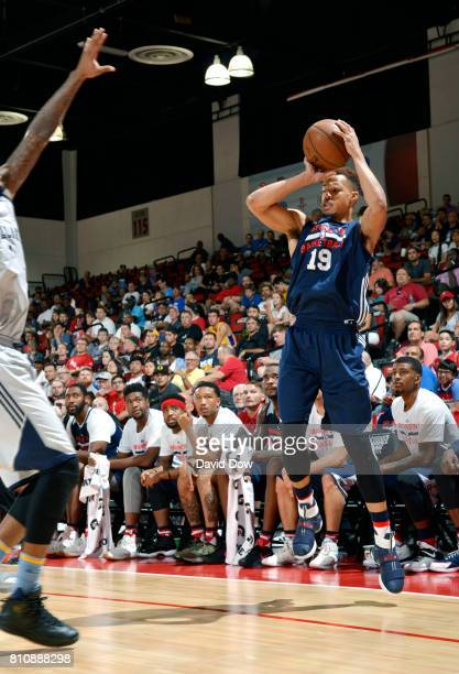 Jared Cunningham of the Washington Wizards passes the ball against the Memphis Grizzlies during the 2017 Summer League on July 8 2017 at Cox...