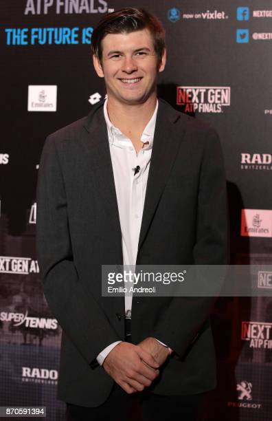 Jared Donaldson of the United States attends the NextGen ATP Finals Launch Party on November 5 2017 in Milan Italy