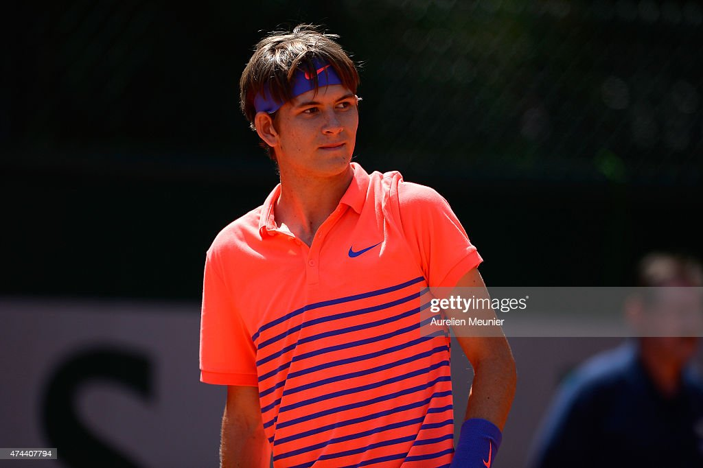 Qualifying For The French Open 2015 : Day Four : Nachrichtenfoto