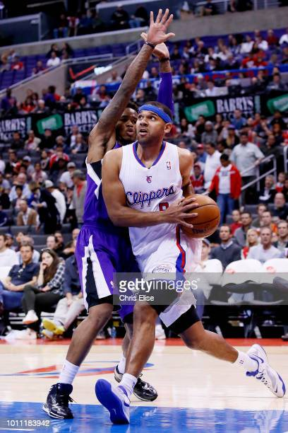 Jared Dudley of the Los Angeles Clippers handles the ball during the game against the Sacramento Kings on November 23 2013 at the Staples Center in...