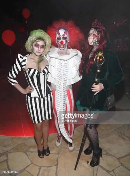 Jared Eng and Actress Michelle Trachtenberg attend Just Jared's 6th Annual Halloween Party on October 27 2017 in Beverly Hills California