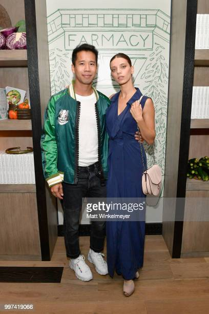 Jared Eng and Angela Sarafyan attend the launch of Farmacy Kitchen Cookbook hosted by Vegan/Plantbased Author Camilla Fayed Elizabeth Saltzman and...