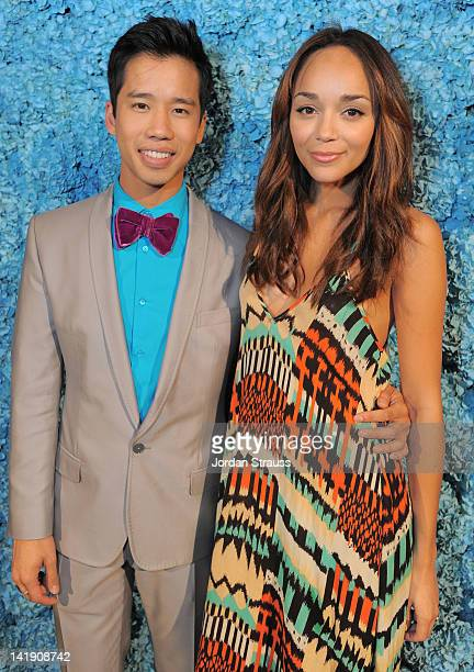 Jared Eng and Ashley Madekwe attend Just Jared's 30th at Pink Taco on March 23 2012 in Los Angeles California