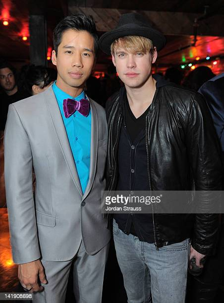 Jared Eng and Chord Overstreet attend Just Jared's 30th at Pink Taco on March 23 2012 in Los Angeles California
