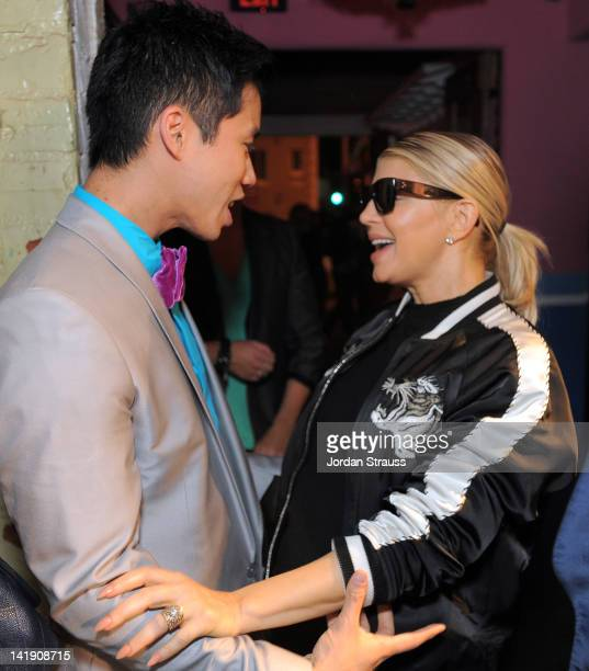 Jared Eng and Fergie attend Just Jared's 30th at Pink Taco on March 23 2012 in Los Angeles California