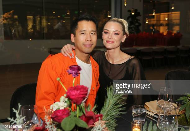 Jared Eng and Jaime King attend Jaime King and MedMen Launch EMBER Magazine Volume 3 at Holiday Dinner Partyon December 11 2018 in Beverly Hills...