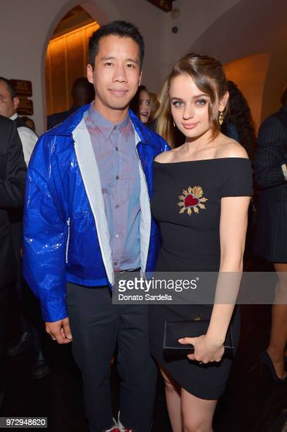 Jared Eng and Joey King attend the Max Mara Celebration for Alexandra Shipp 2018 Women In Film Max Mara Face Of The Future Award Recipient at Chateau...