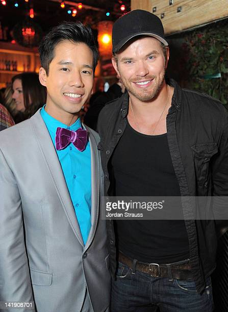 Jared Eng and Kellan Lutz attend Just Jared's 30th at Pink Taco on March 23 2012 in Los Angeles California