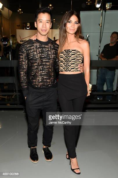 Jared Eng and Lily Aldridge attend Fashion Rocks 2014 presented by Three Lions Entertainment at the Barclays Center of Brooklyn on September 9 2014...