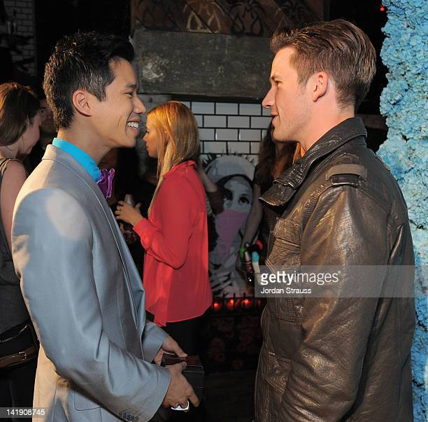 Jared Eng and Matt Lanter attend Just Jared's 30th at Pink Taco on March 23 2012 in Los Angeles California