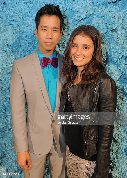 Jared Eng and Shiri Appleby attend Just Jared's 30th at Pink Taco on March 23 2012 in Los Angeles California