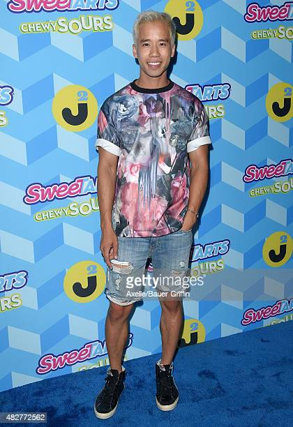 Jared Eng arrives at Just Jared's Summer Bash Pool Party 2015 on July 18 2015 in Los Angeles California
