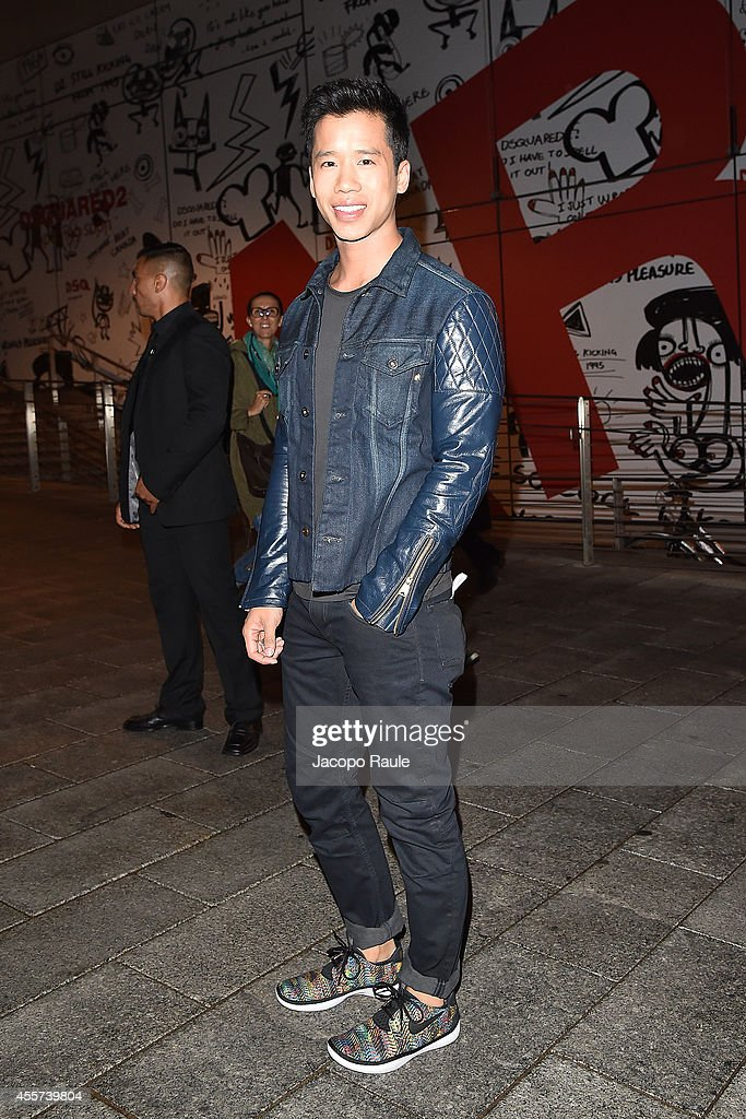 Jared Eng attends Replay Store Preview during Milan Fashion Week Womenswear Spring/Summer 2015 on September 19, 2014 in Milan, Italy.