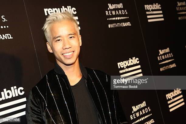 Jared Eng attends Republic Records 2015 VMA after party at Ysabel on August 30 2015 in West Hollywood California