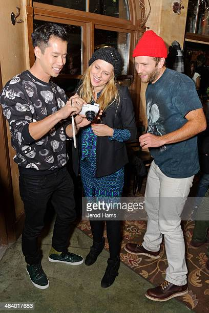 Jared Eng Teresa Palmer and Mark Webber attend 'Happy Christmas' Premiere Party 2014 Park City on January 19 2014 in Park City Utah