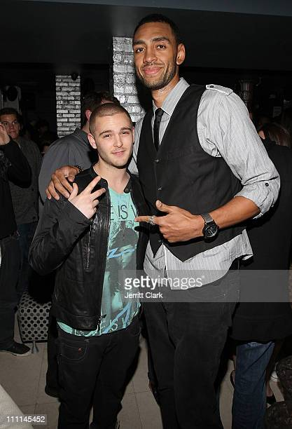Jared Evan and NBA player Jared Jeffries attend a Japan Disaster Fundraiser at Polar Lounge on March 29 2011 in New York City