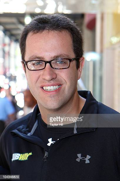 Jared Fogle trains for the ING New York City Marathon at Subway Restaurant on September 21 2010 in New York City