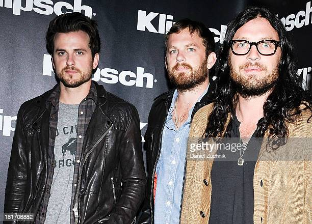 Jared Followill Caleb Followill and Nathan Followill of 'King of Leon' attend the Kings Of Leon 'Mechanical Bull' album listening and announcement...