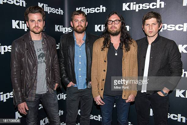Jared Followill Caleb Followill Nathan Followill and Matthew Followill of Kings of Leon attend Klipsch Audio and Kings of Leon Host 'Mechanical Bull'...
