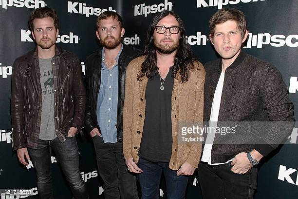 Jared Followill, Caleb Followill, Nathan Followill, and Matthew Followill of Kings of Leon attend the Klipsch Audio And Kings Of Leon Host...