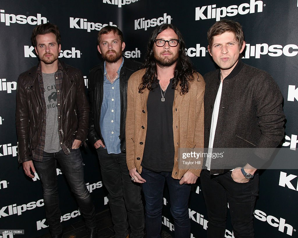 Jared Followill, Caleb Followill, Nathan Followill, and Matthew Followill of Kings of Leon attend the Klipsch Audio And Kings Of Leon Host 'Mechanical Bull' Listening Party at the Electric Room at Dream Downtown on September 23, 2013 in New York City.