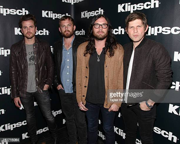 Jared Followill Caleb Followill Nathan Followill and Matthew Followill of Kings of Leon attend the Klipsch Audio And Kings Of Leon Host Mechanical...