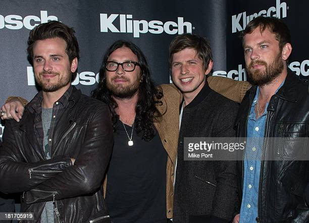 Jared Followill Nathan Followill Matthew Followill and Caleb Followill of Kings of Leon attend Klipsch Audio And Kings Of Leon Host 'Mechanical Bull'...