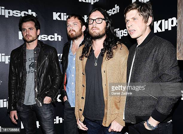 Jared FollowillCaleb FollowillNathan Followill and Matthew Followill of 'King of Leon' attend the Kings Of Leon 'Mechanical Bull' album listening and...