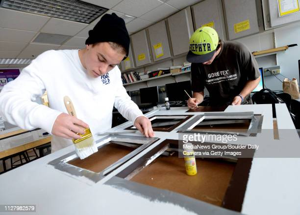Jared Foulk left and Jake Salter work on an engineering project for the Superior Fire Department that will educate kids on fire safety More than 350...